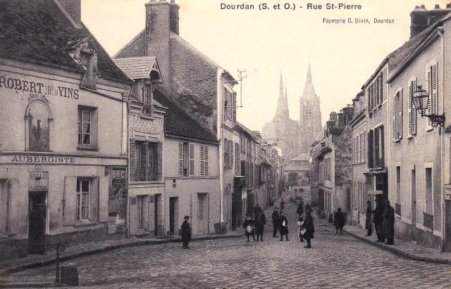 Dourdan essonne le rue saint pierre cpa