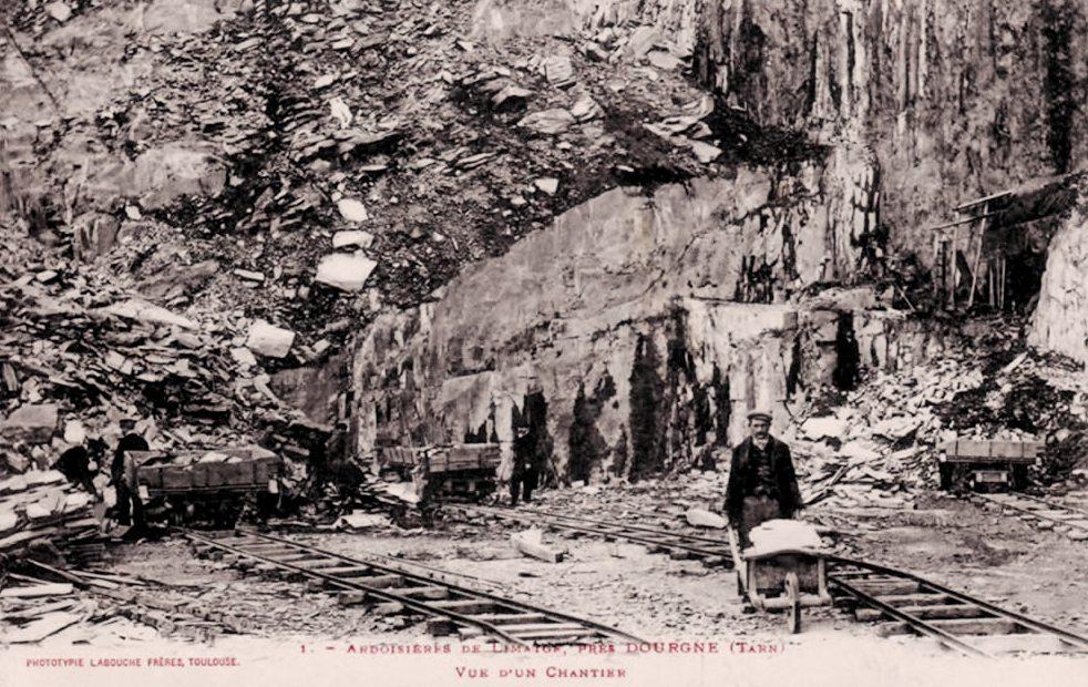 Dourgne (Tarn) CPA ardoisière