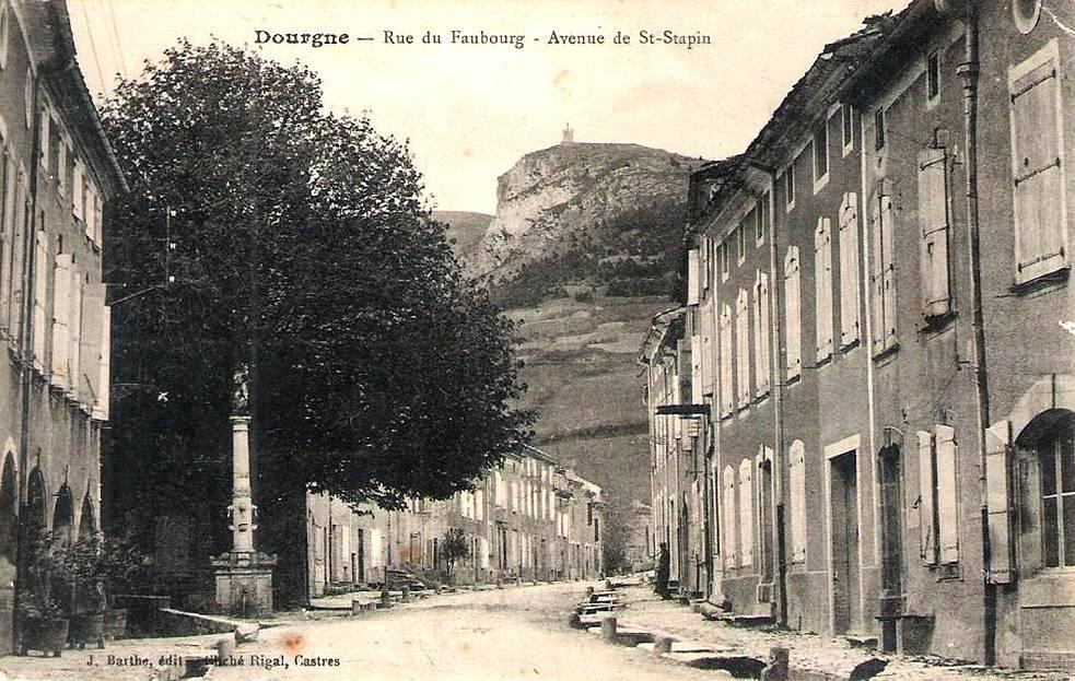 Dourgne (Tarn) CPA avenue du Faubourg