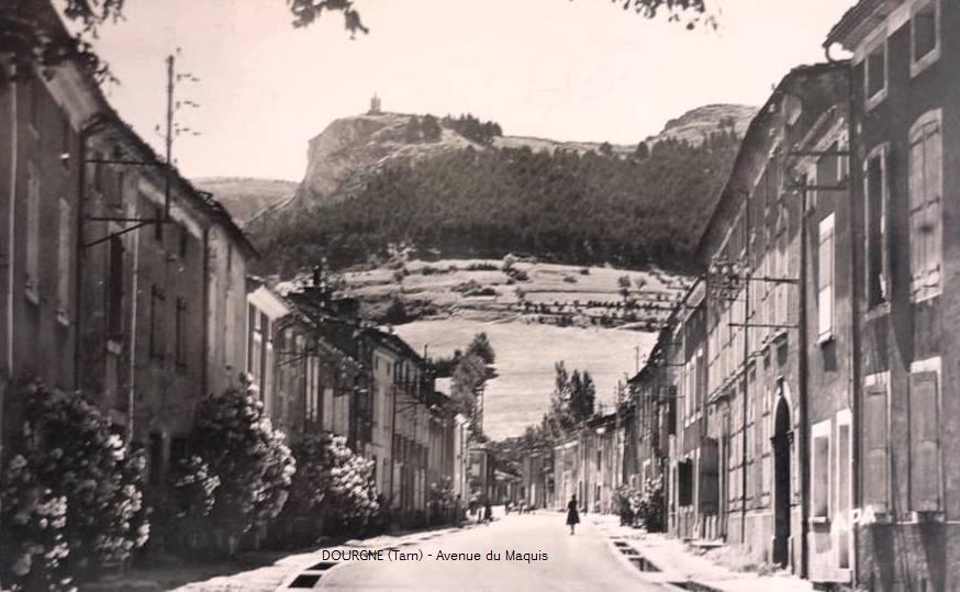 Dourgne (Tarn) CPA avenue du Maquis