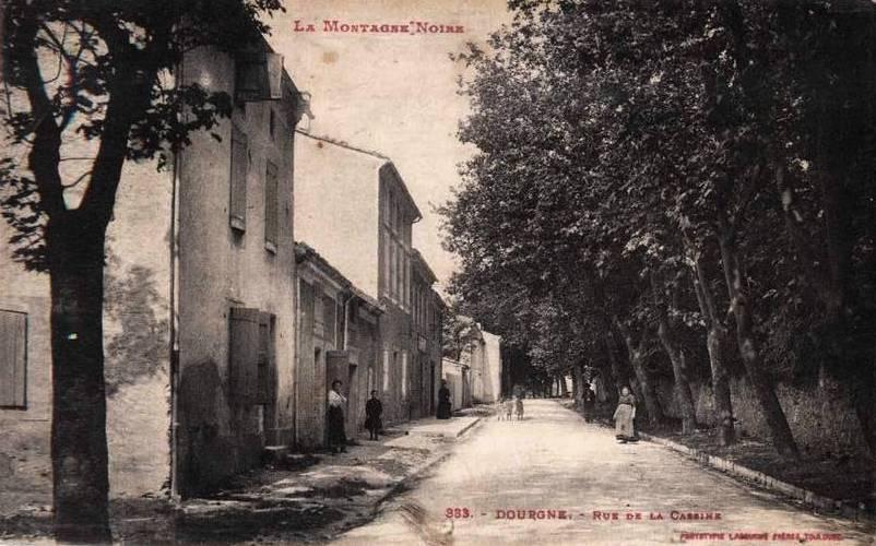 Dourgne (Tarn) CPA rue de la Cassine