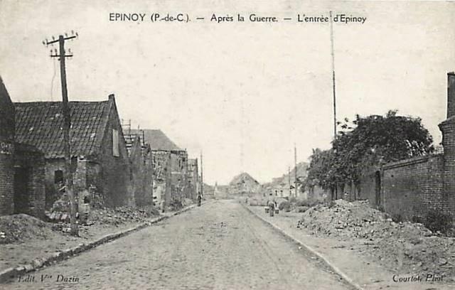 Epinoy pas de calais l entree du village apres 1918 cpa