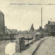Epinoy pas de calais la mairie apres 1918 cpa