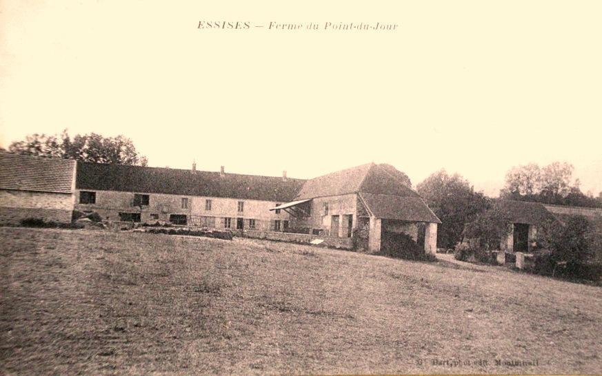 Essises (Aisne) CPA Ferme du point du jour en 1908
