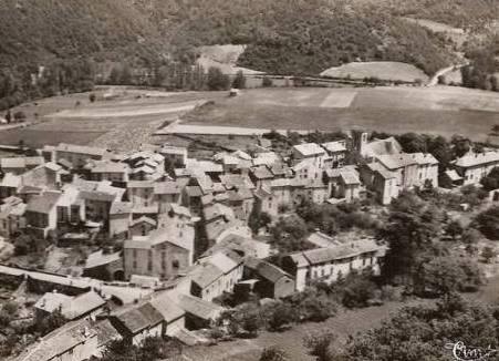 Fayet (Aveyron)  CPA Vue aérienne