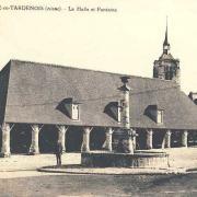 Fère-en-Tardenois (Aisne) CPA la halle et la fontaine