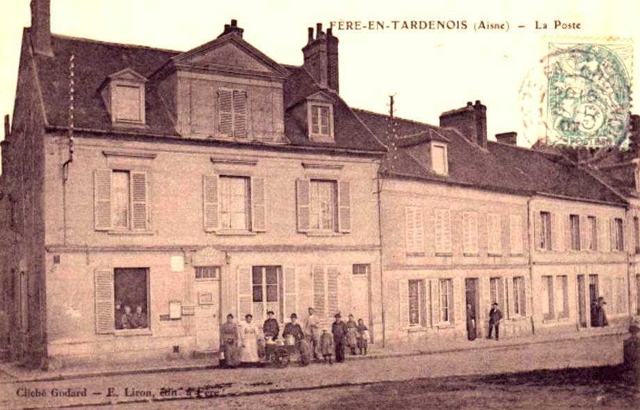 Fère-en-Tardenois (Aisne) CPA la poste