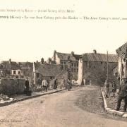 Fère-en-Tardenois (Aisne) CPA la rue Coincy 14-18