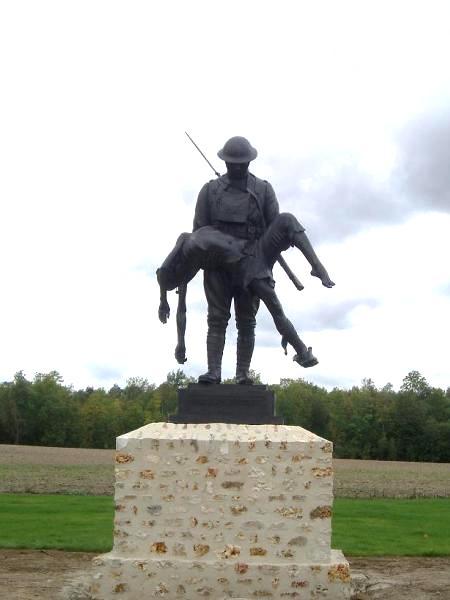Fère-en-Tardenois (Aisne) la ferme de la Croix Rouge, mémorial