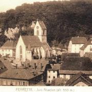 Ferrette 68 l eglise saint bernard de menthon cpa