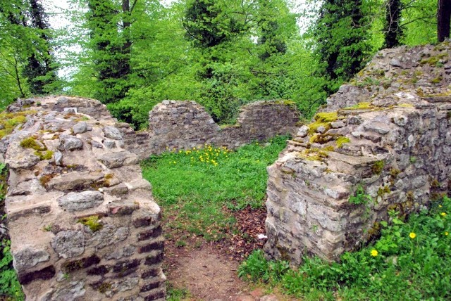 Ferrette 68 le chateau bas ruines de la chapelle sainte catherine