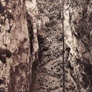 Ferrette 68 le chemin de la grotte cpa