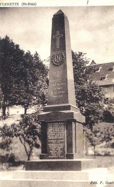 Ferrette 68 le monument aux morts cpa