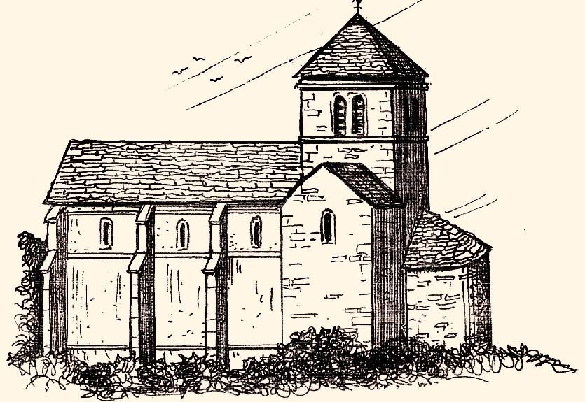 Fleurey-sur-Ouche (Côte d'Or) L'église du prieuré, reconstitution