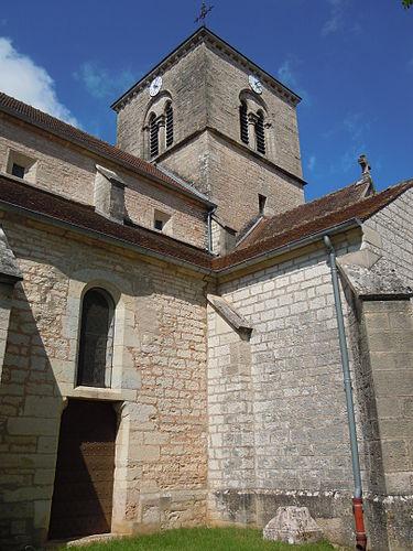 Fleurey-sur-Ouche (Côte d'Or) L'église Saint-Jean-Baptiste