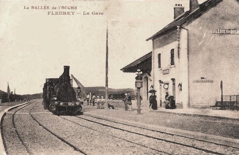 Fleurey-sur-Ouche (Côte d'Or) La gare CPA