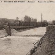Fleurey-sur-Ouche (Côte d'Or) La passerelle CPA