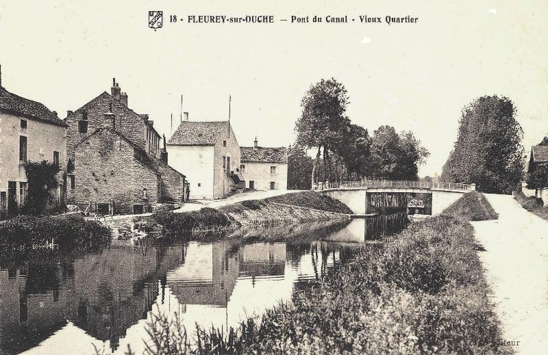 Fleurey-sur-Ouche (Côte d'Or) Le canal CPA