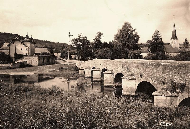 Fleurey-sur-Ouche (Côte d'Or) Le Castel et le pont CPA