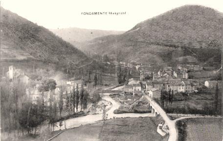 Fondamente (Aveyron) CPA Vue générale en 1910