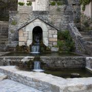 Fondamente (Aveyron) Fontaine de l'église Saint Pierre