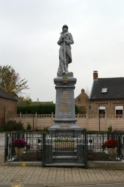 Fontaine au pire 59 le monument aux morts