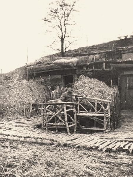 Fontaine-en-Dormois (51) 1914-1918, abri allemand CPA