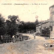 Fontaine-en-Dormois (51) La route de Gratreuil CPA