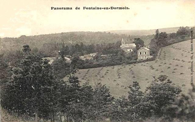 Fontaine-en-Dormois (51) Vue générale CPA