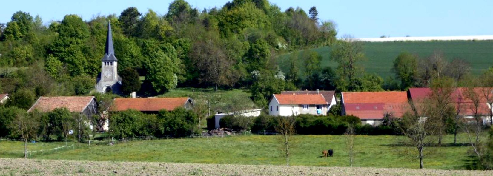 Fontaine-en-Dormois (51) Vue générale