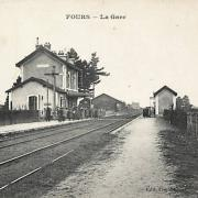 Fours (Nièvre) La gare CPA