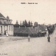 Fours (Nièvre) La route de Luzy CPA