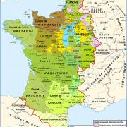 La France en 1030 (comté de Blois et de Champagne en jaune)