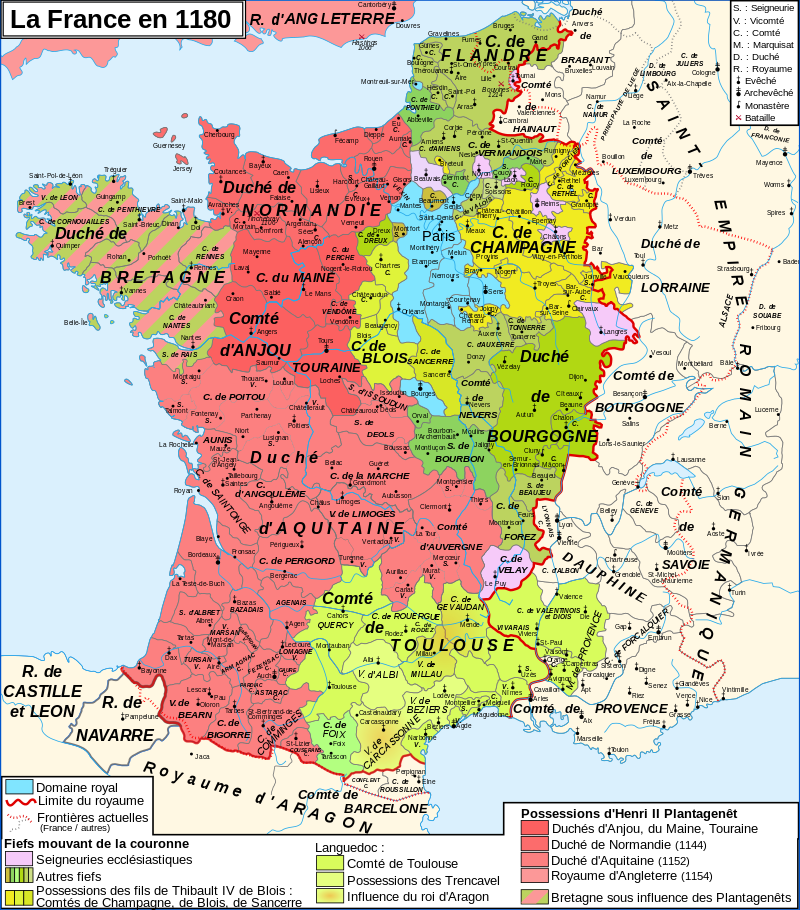 La France en 1180