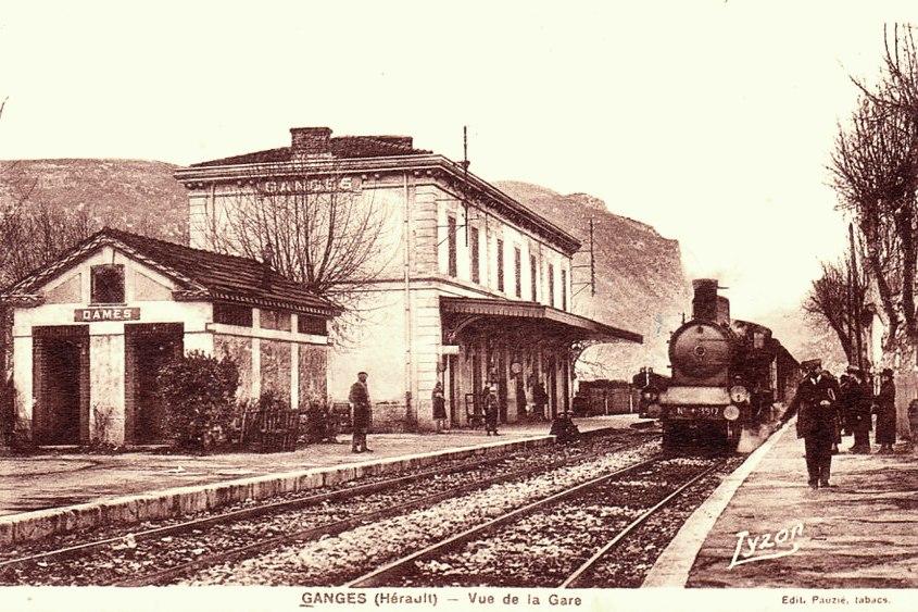 Ganges (Hérault) La gare CPA