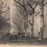 Ganges (Hérault) Le cours de la République CPA