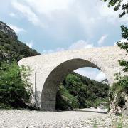Ganges (Hérault) Le pont des chèvres