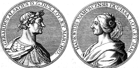 Gérard Ier d'Alsace et Hadwide de Namur