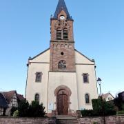 Gingsheim 67 l'eglise saint nicolas