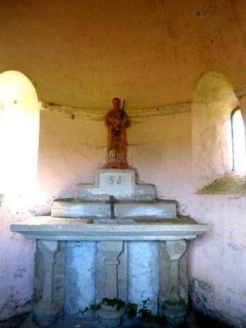 Gissac (Aveyron) Chapelle Saint Jacques, choeur