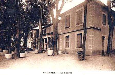 Gissac (Aveyron) CPA Andabre, source eau minérale
