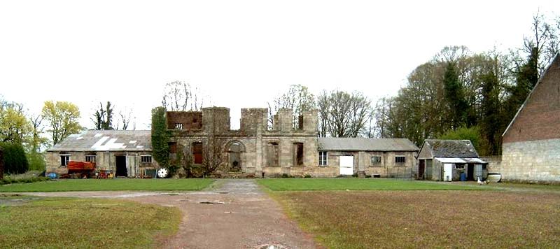 Gouy (Aisne) Ruines de l'abbaye du Mont Saint Martin