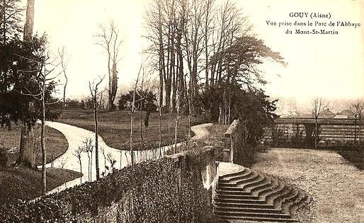 Gouy (Aisne) CPA Parc de l'abbaye du Mont Saint Martin