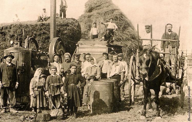 Gouy (Aisne) CPA Aux champs en 1925