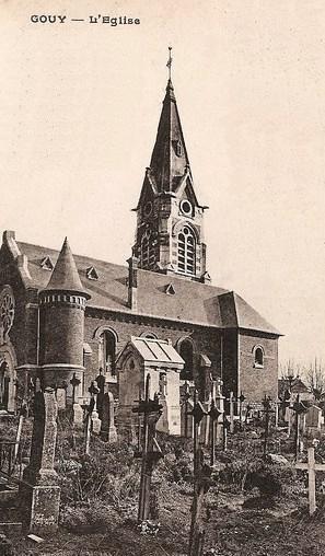Gouy (Aisne) CPA Eglise Saint Médart