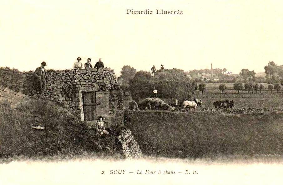 Gouy (Aisne) CPA four à chaux 1904