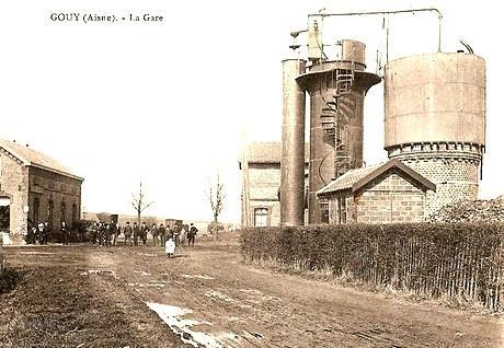 Gouy (Aisne) CPA gare