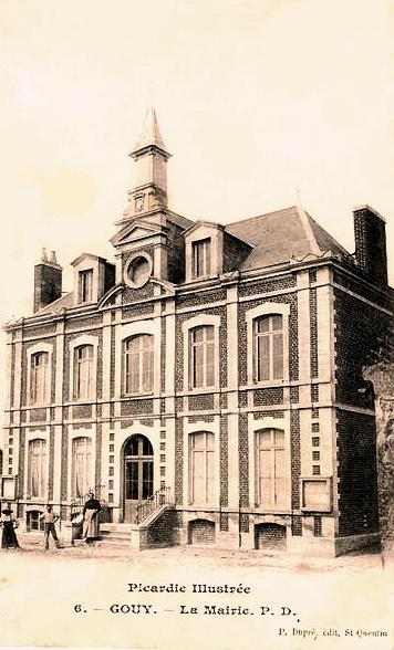 Gouy (Aisne) CPA Mairie en 1905