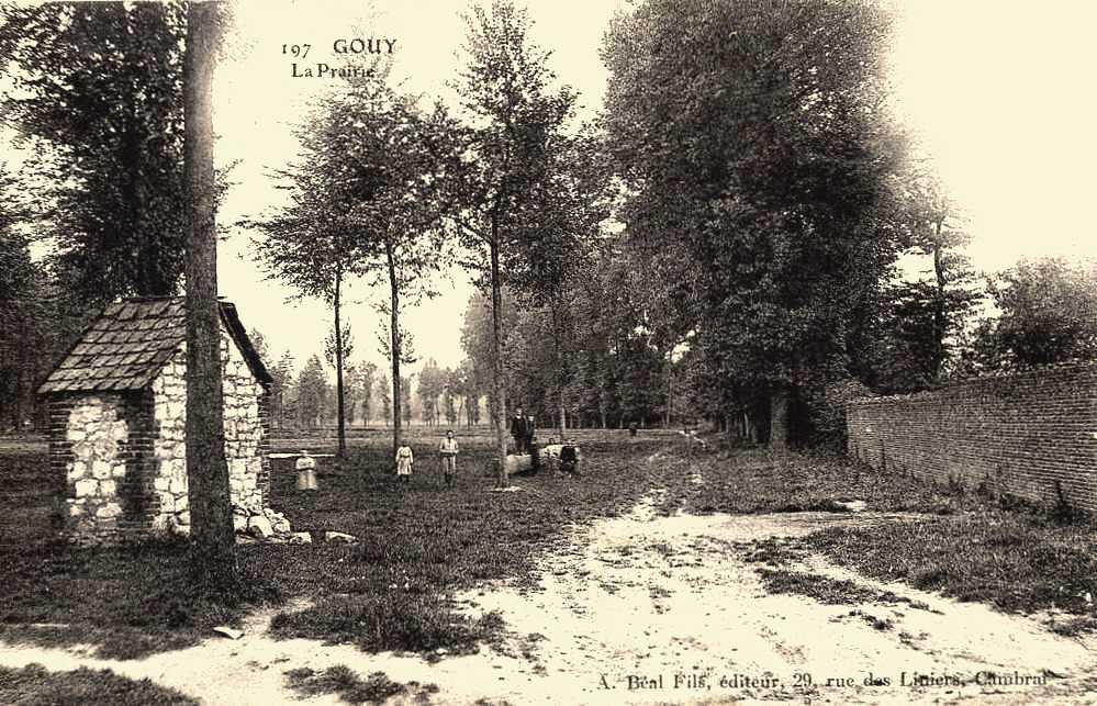 Gouy (Aisne) CPA la prairie