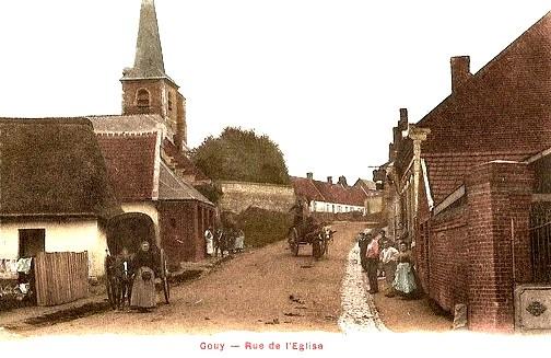Gouy (Aisne) CPA Rue de l'église